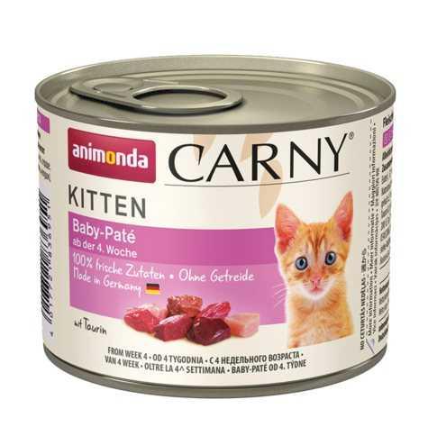 שימור גורים לחתול אנימונדה קרני בייבי פטה 400 גר'