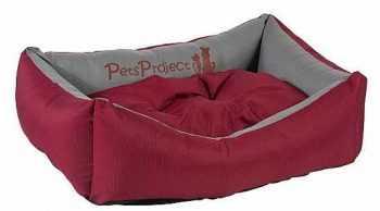 מיטה לכלב דוחה נוזלים אדום אפור