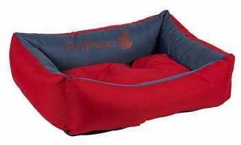 מיטה לכלב דוחה נוזלים אדום כחול
