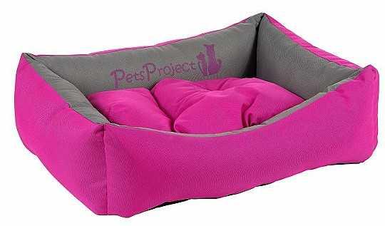 מיטה לכלב דוחה נוזלים ורוד אפור
