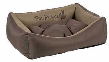מיטה לכלב דוחה נוזלים חום בז
