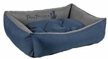 מיטה לכלב דוחה נוזלים כחול אפור