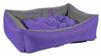 מיטה לכלב דוחה נוזלים סגול אפור