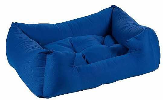 מיטה לכלב כחול כותנה