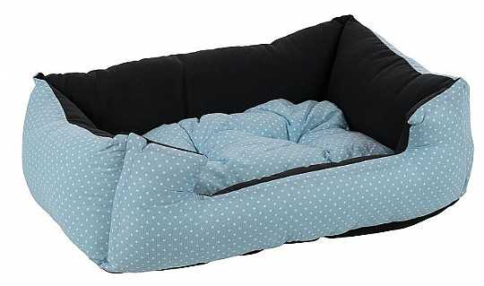 מיטה לכלב תכלת מנוקד כותנה