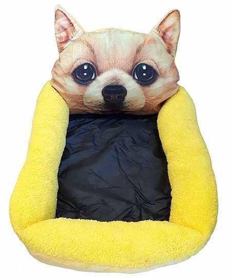 דיל! מיטת פרצוף צהובה לכלב