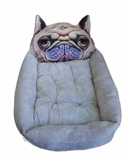 """דיל מיטת פרצוף אפורה לכלב 68 ס""""מ"""