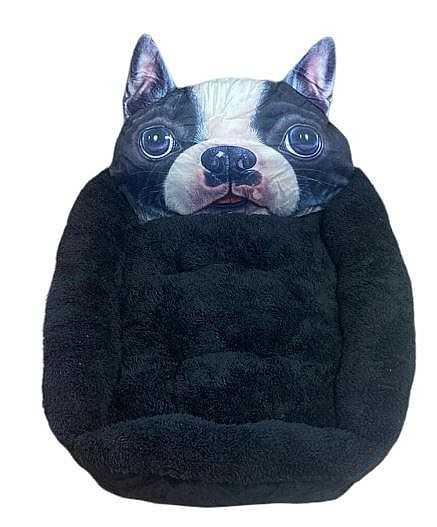 דיל! מיטת פרצוף שחורה לכלב