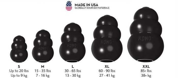 קונג אקסטרים שחור במגוון גדלים